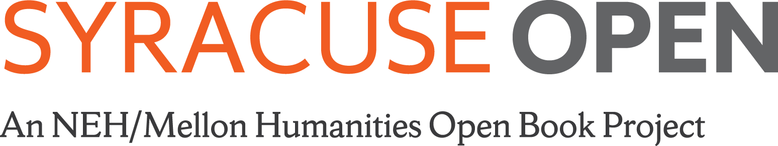Syracuse Open titled with tag line: An NEH/Mellon Humanities Open Book Project
