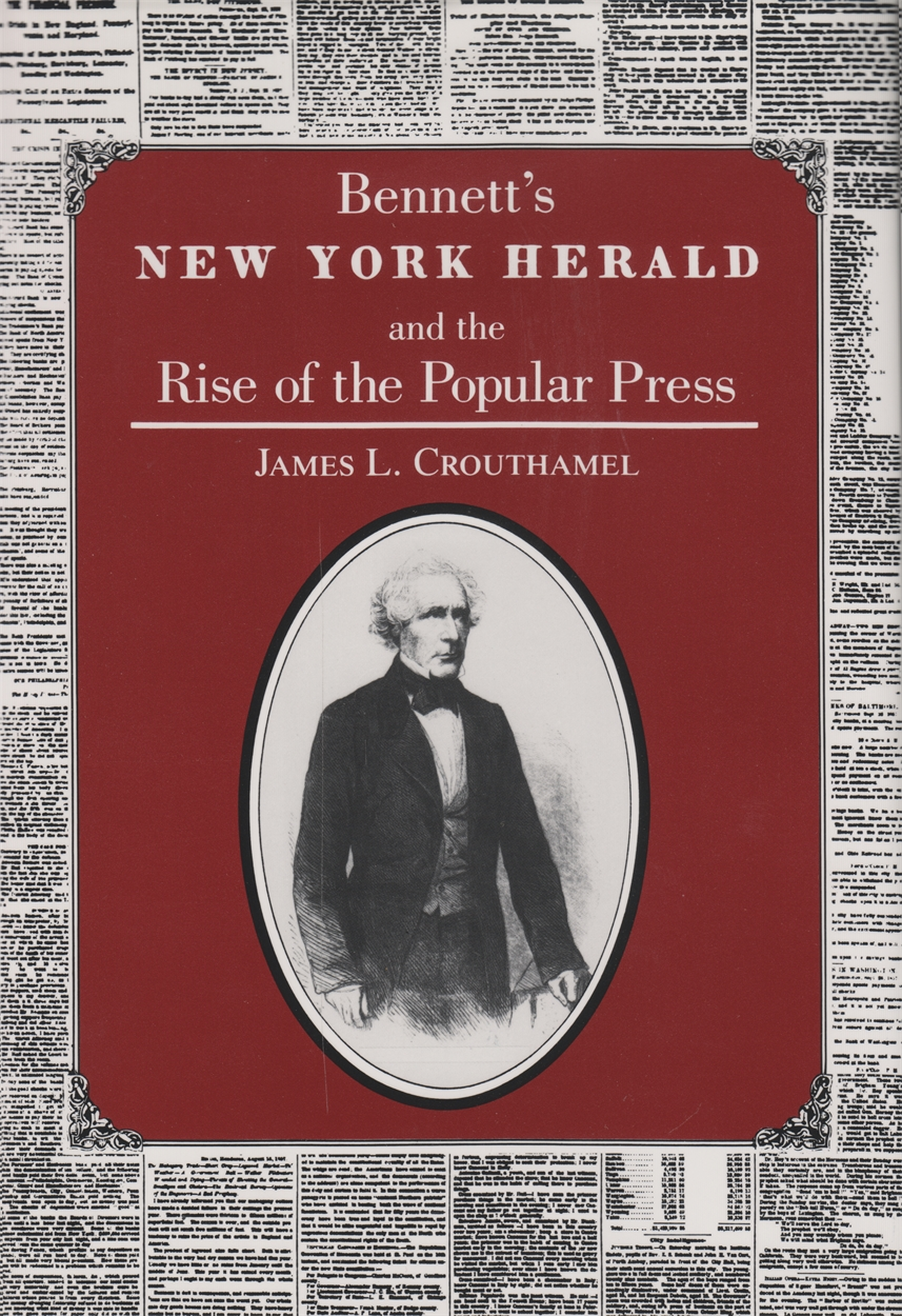 Book cover art for Bennett's New York Herald and the Rise of the Popular Press